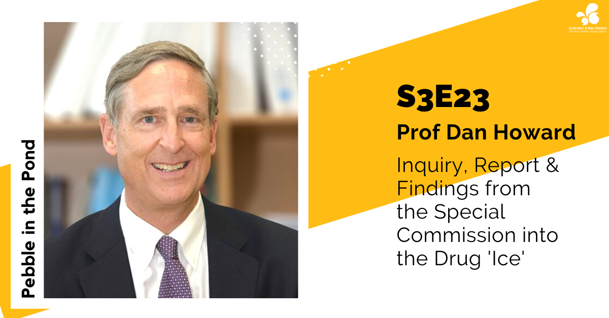 ANZMHA Podcast: Prof Dan Howard on the Special Commission into the Drug 'Ice'